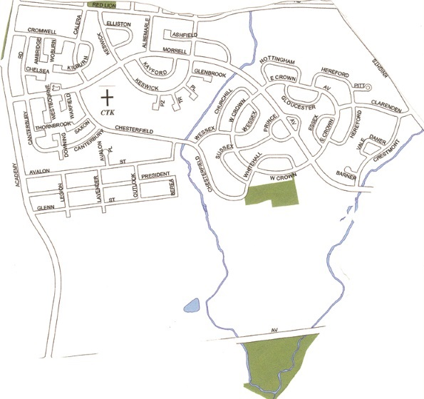 Map parish boundaries